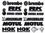 Stickerset Brembo Michelin Motul